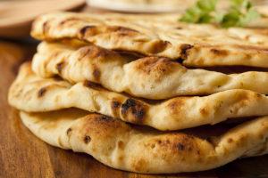 Naan Bread and Mango Lassi
